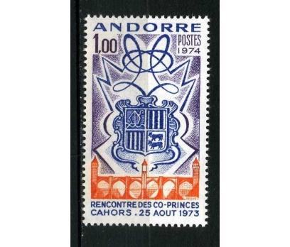 FRANSIZ ANDORRA ** 1974 ARMA TAM S.SÜPER
