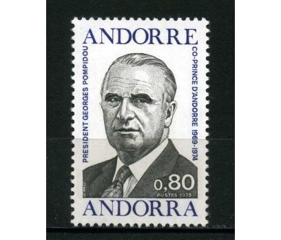 FRANSIZ ANDORRA ** 1975 POMPİDOU 1.ÖLÜM Y. TAM S.