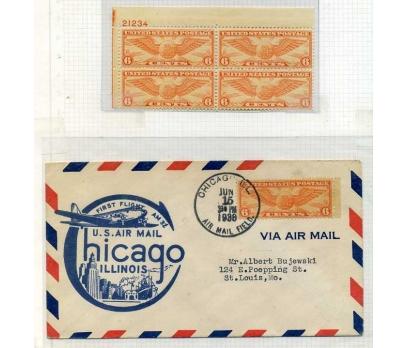 ABD 1938 CHİCAGO-ILLINOIS İLK UÇUŞ SÜPER (SB-0913)