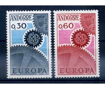 FR. ANDORRA ** 1967 EUROPA CEPT TAM SERİ SÜPER