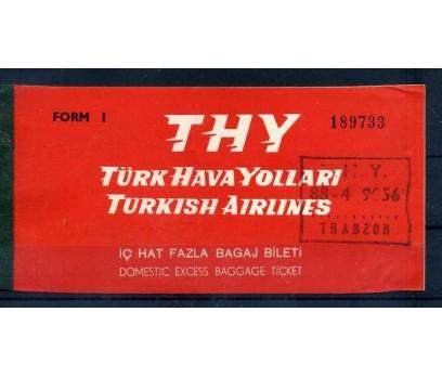 TÜRK HAVA YOLLARI 1968 FAZLA BAGAJ BİLETİ(SB-0913)