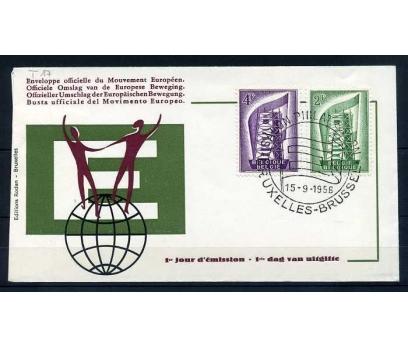 BELÇİKA FDC 1956 EUROPA CEPT SÜPER  (SB-0913)