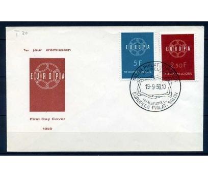 BELÇİKA FDC 1959 EUROPA CEPT  SÜPER (SB-0913)