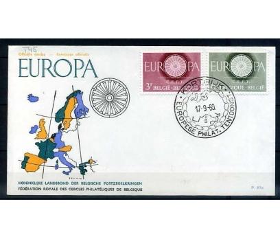 BELÇİKA FDC 1960 EUROPA CEPT  SÜPER (SB-0913)