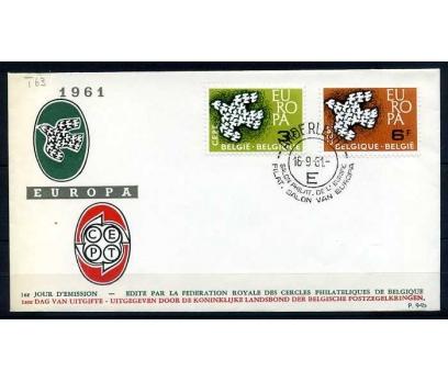 BELÇİKA FDC 1961 EUROPA CEPT  SÜPER (SB-0913)