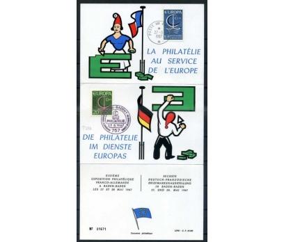 FRANSA-ALM-ÖD 1967 EUROPA YAN TEMA SÜPER (SB-0913)