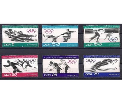 1971 DDR Sapporo Olimpik Kış Oyunları Damgasız **