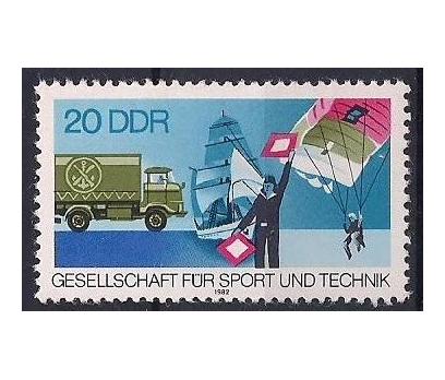 1982 DDR Teknik Sporlar Damgasız **