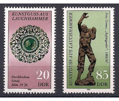 1984 DDR Lauchhammer Sanat Objeleri Damgasız **