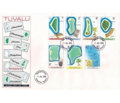 1976 Tuvalu Atoller Lokal Motifler 2 X Fdc