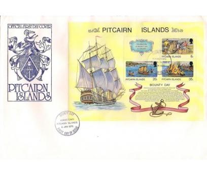 1978 Pitcairn Adaları Ödül Günü Hatıra Blok Fdc