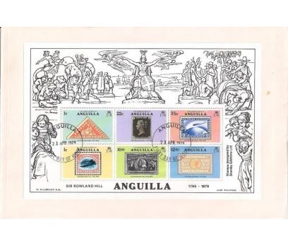 1979 Anguilla Sir Rowland Hill Hatıra Blok Fdc