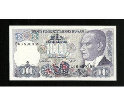 D&K-7. EMİSYON 1000 LİRA SERİ E66 890388 ÇİL