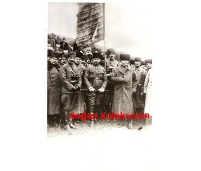 D&K-ATATÜRK-2.AĞIR TOP ALAYINI DENETLERKEN 1923