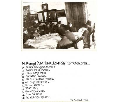 D&K-ATATÜRK-İZMİR'DE KOMUTANLARLA 1924