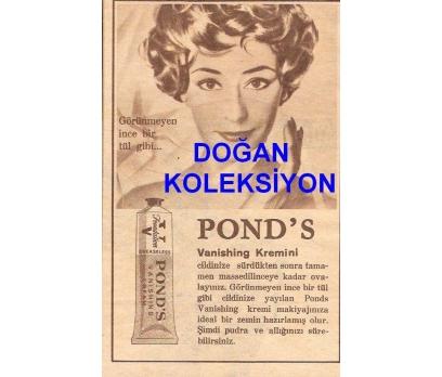 D&K--ESKİ POND'S VANİSHİNG KREM REKLAMI.