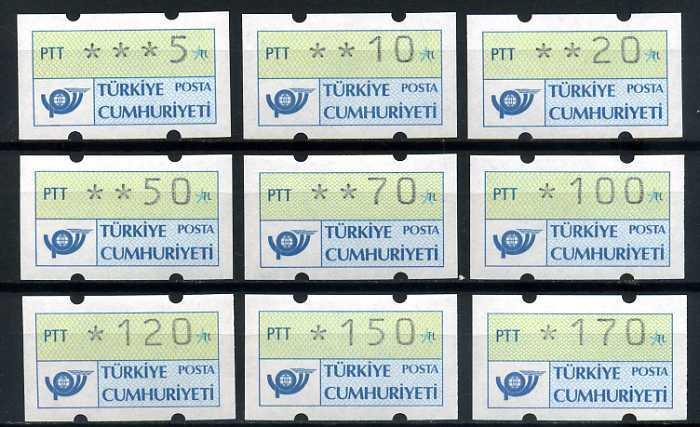 CUMHURİYET ** 1987-91 OTOMATLAR KOMPLE (TE-1213) 2