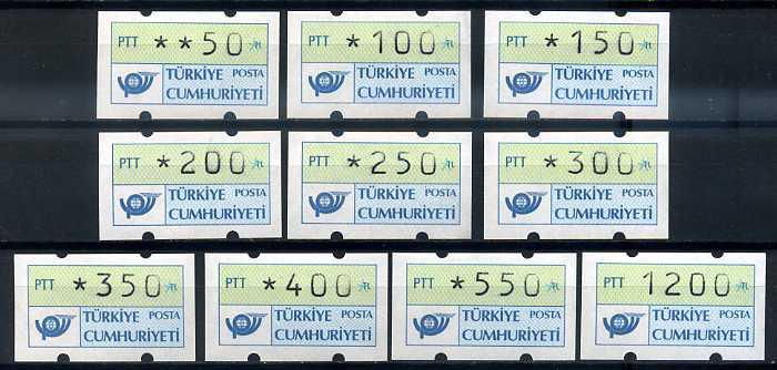 CUMHURİYET ** 1987-91 OTOMATLAR KOMPLE (TE-1213) 3