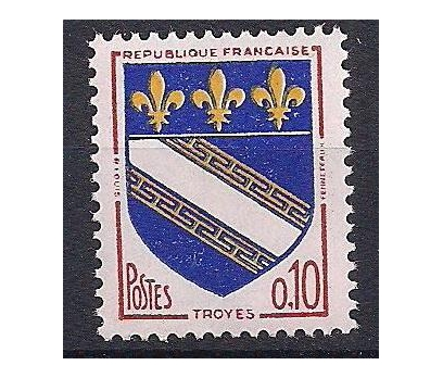 1963 Fransa Troyes Eyalet Amblemi Damgasız**