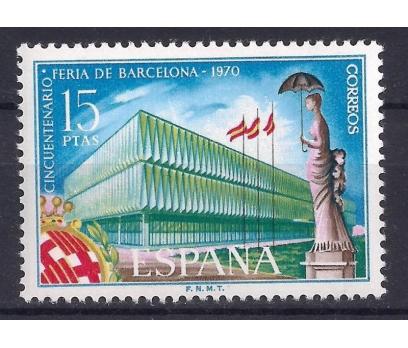 1970 İspanya Barcelona Fuarı Damgasız **