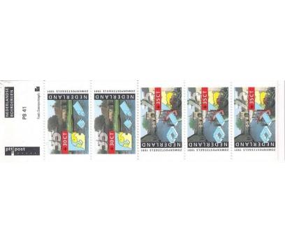 1991 Hollanda Pb41 Çiftlikler Karne (Booklet)
