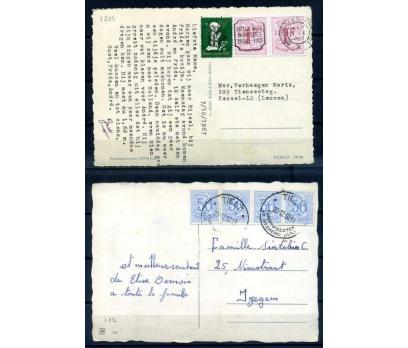 BELÇİKA 1967 PG 2 CHRISTMAS KARTPOSTAL (SB-0913)
