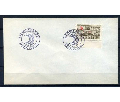 CUMH.FDC 1957 VEREM SAVAŞI  SÜPER (YT-1213)