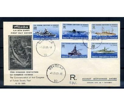 CUMH.FDC 1965 DONANMA-GEMİLER SÜPER (TE-1213)