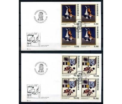 DANİMARKA FDC 1993 TABLOLAR  DBL PULLA (YT-1213)