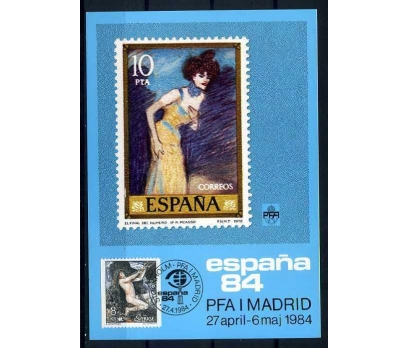 İSVEÇ KM 1984 ESPANA 84 PUL SERGİ SÜPER (İF-1013)