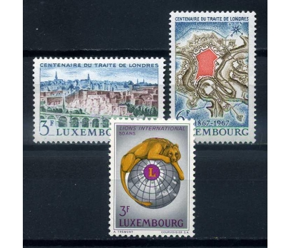 LÜKSEMBURG ** 1967  2 TAM SERİ SÜPER ( O-1 )