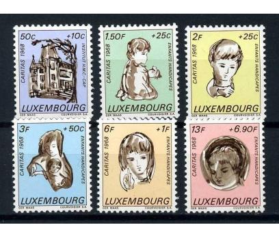 LÜKSEMBURG ** 1968 CARİTAS TAM SERİ SÜPER ( O-1 )