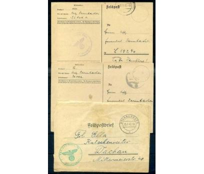 REİCH 1942 NAZİ KARTALI DAMGA PG 3 ANTİYE(İF-1013)
