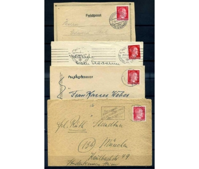 REİCH 1943 HİTLER PULLU PG 4ZARF (İF-1013)
