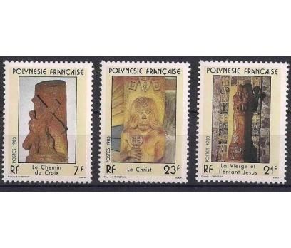 1983 Fransız Polinezyası Dini Heykeller Damgasız**