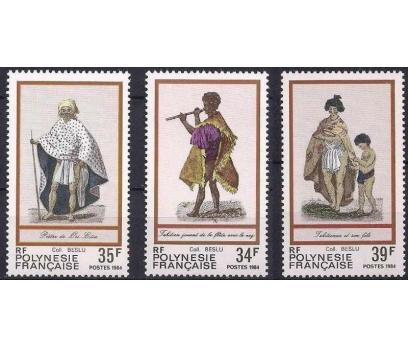 1984 Fransız Polinezyası Kostümler Damgasız**