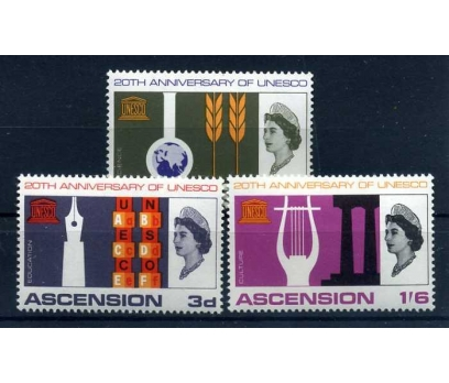 ASCENSİON AD.** 1967 UNESCO 20.YIL TAM S. (E-0114)