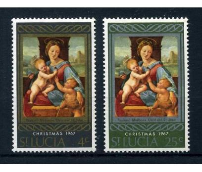 ST.LUCIA ** 1967 CHRISTMAS TAM SERİ SÜPER ( O-1 )