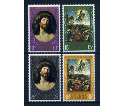 ST.LUCIA ** 1969 CHRISTMAS TAM SERİ SÜPER ( O-1 )