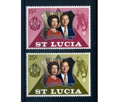 ST.LUCIA ** 1972 KRAL & KRALİÇE SÜPER ( O-1 )