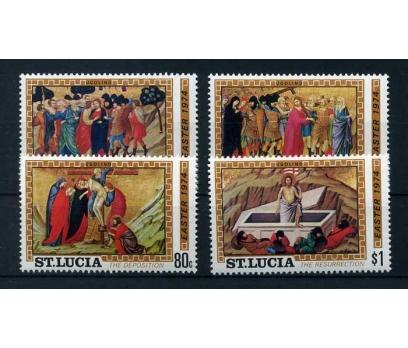 ST.LUCIA ** 1974 CHRISTMAS TAM SERİ SÜPER ( O-1 )