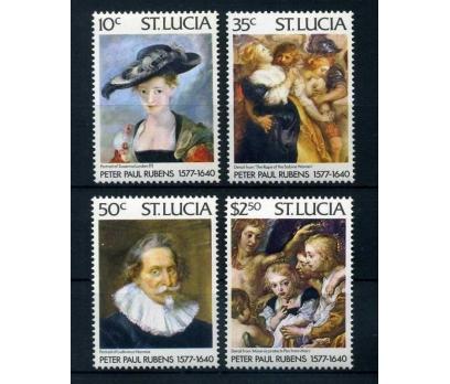 ST.LUCIA ** 1977 RUBENS & TABLOLAR SÜPER ( O-1 )