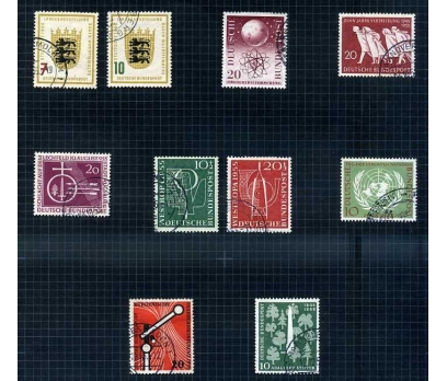 ALMANYA DAMGALI 1955 YILI 8 TAM SERİ ( E-0114 )