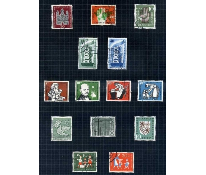 ALMANYA DAMGALI 1956-57 YILI 9 TAM SERİ( E-0114 )