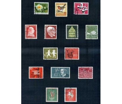 ALMANYA DAMGALI 1957-58 YILI 11 TAM SERİ( E-0114 )