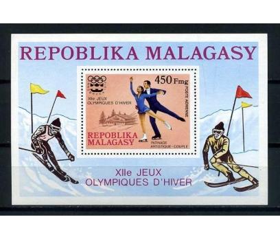 MADAGASKAR ** 1976 A.PATİNAJ  BLOK ( K-0114 )