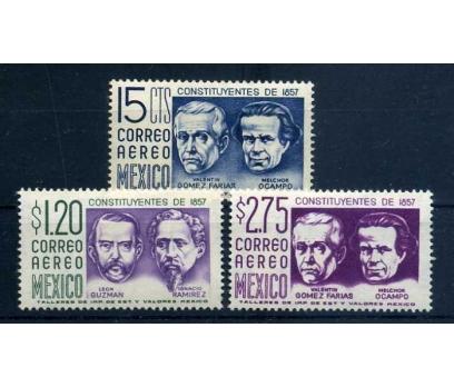 MEKSİKA * 1956 ÜNLÜLER 3 VALÖR SÜPER (K-0214 )