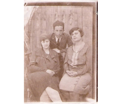1928 YILI ESKİ BİR AİLE-FOTOGRAF.