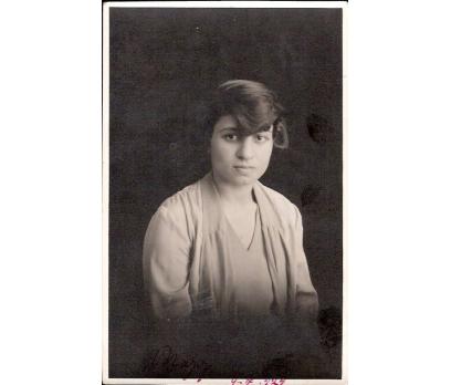 1929 YILI GENÇ BİR BAYAN FOTOGRAF.