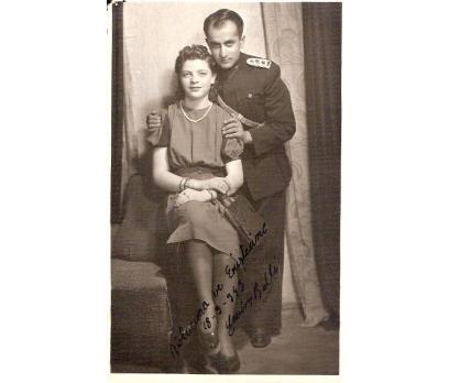 1945 GENÇ SUBAY VE EŞİ-FOTOGRAF.
